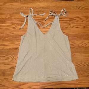 Blue and white striped Lucky Brand tank top